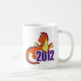 Year of the dragon 2012  chinese new year basic white mug