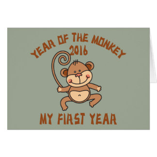 Year of The Monkey Baby 2016 Greeting Card
