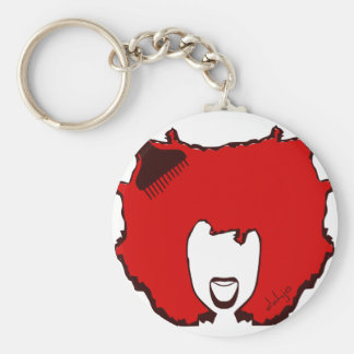 YELL OUT LOUD in RED Basic Round Button Key Ring