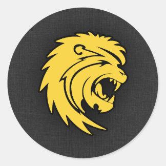 Yellow Amber Leo Round Sticker