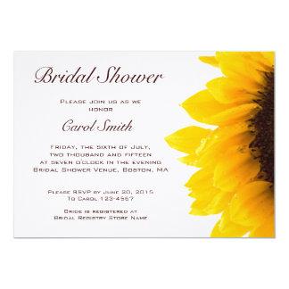 Yellow Brown Sunflower Bridal Shower Invitation