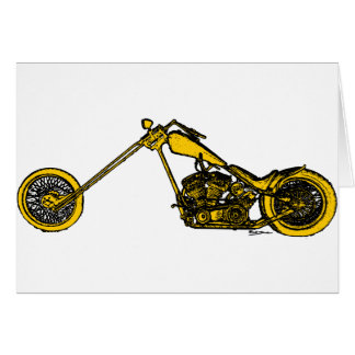 Yellow Chopper Style Greeting Card