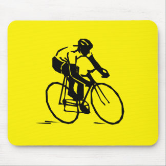 Yellow Cycling Mouse Pad
