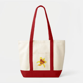 Yellow Daylily Flower with Red, Hemerocallis: Impulse Tote Bag