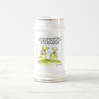 Yellow Dog Democrats Funny Beer Steins