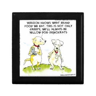 Yellow Dog Democrats Funny Small Square Gift Box