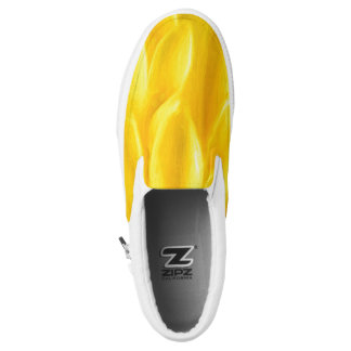 Yellow Flower Petals Slip On ZIPZ® Shoes Printed Shoes