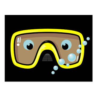 Yellow Goggles Postcard