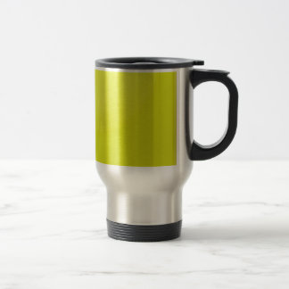 Yellow Golden Color Shade Blanks: Add text image Stainless Steel Travel Mug