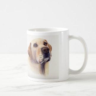 "Yellow Labrador with ""Man's Best Friend"" text Basic White Mug"