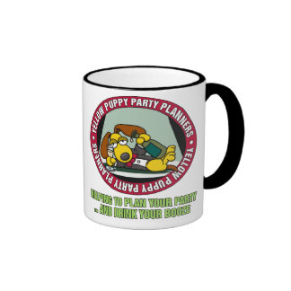 Yellow Puppy Party Planners Mug