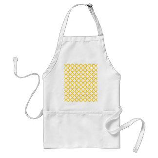 Yellow Quatrefoil Pattern Standard Apron