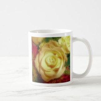 Yellow Rose Basic White Mug