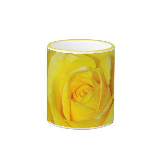 Yellow rose petals coffee mug