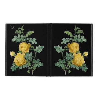 Yellow Rose vintage botanical illustration iPad Folio Case