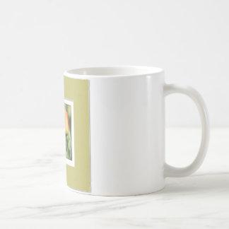 Yellow Rose with Faux Mat Basic White Mug