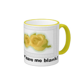 Yellow Roses, Add some text or leave me blank! Ringer Mug