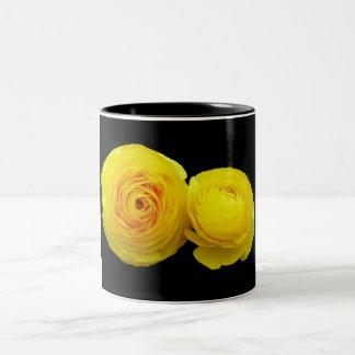 yellow roses Two-Tone mug