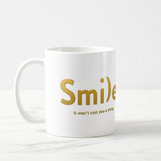 Yellow Smile Ascii Text Mug