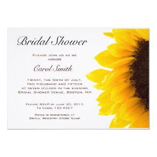 Yellow Sunflower Bridal Shower Invitation