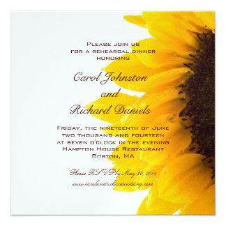 Yellow Sunflower Rehearsal Dinner Invitation