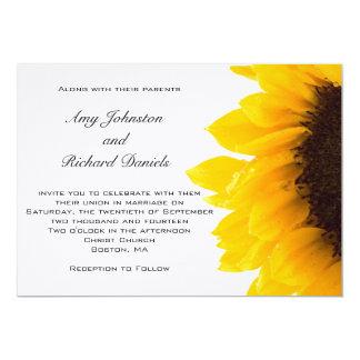 Yellow Sunflower Wedding Invitation | Black Yellow