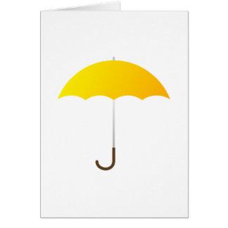 Yellow Umbrella Note Card