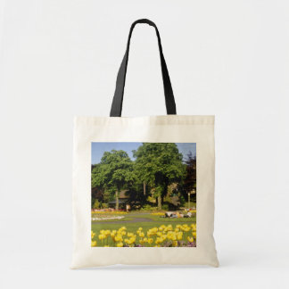 yellow Valley Gardens, Harrogate, England flowers Budget Tote Bag