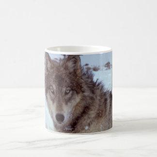 Yellowstone Wolf Basic White Mug