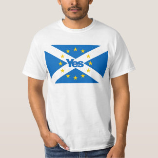 Yes to Independent European Scotland T-shirts