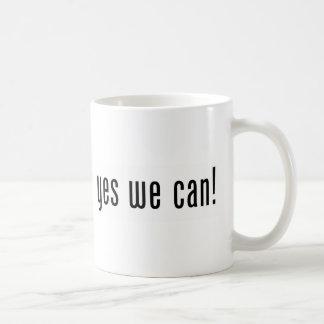 yes we can basic white mug
