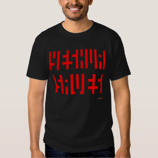Yeshua Saves Red Logo on Black T-Shirt both sides