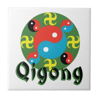 Yin Yang Qigong Small Square Tile