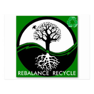 Yin Yang Tree Rebalance Recycle Postcard