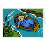 Yo Mo! Baby Moses Floating On The Nile Greeting Card