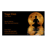 yoga club pack of standard business cards