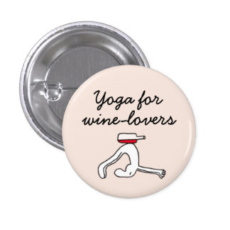 Yoga for Winelovers Pink Badge