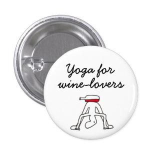 Yoga for Winelovers White Badge