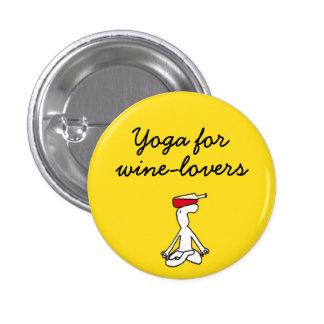 Yoga for Winelovers Yellow Badge