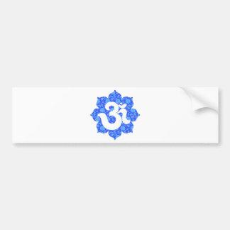 Yoga Om in Lotus dark blue Bumper Sticker