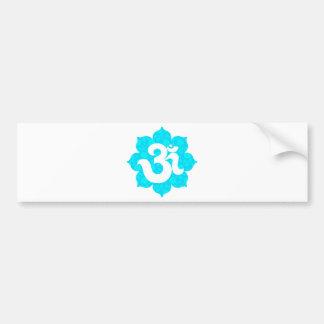 Yoga Om in Lotus light blue Bumper Sticker
