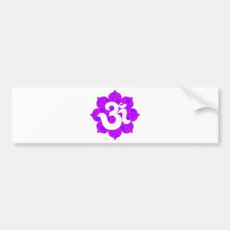 Yoga Om in Lotus purple pink Bumper Sticker
