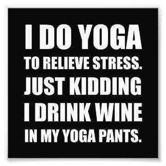 Yoga Pants Wine Art Photo