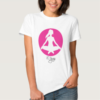 Yoga Position T-Shirts Female Silhouette