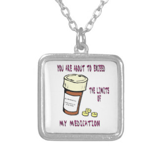 You are about to exceed limit of my medication square pendant necklace