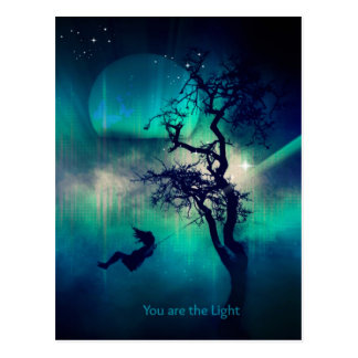 You Are the Light Turquoise Postcard