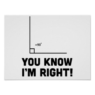 You Know I'm Right Poster