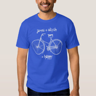 You Plus Bicycle Equals Happy Antique Wheels Bike Tee Shirt