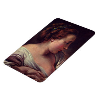 Young Girl Jeune fille by Francois Boucher Rectangular Photo Magnet