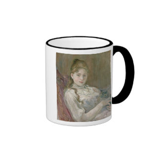 Young Girl with Cat, 1892 Ringer Mug